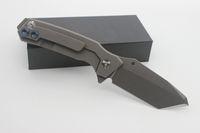 meilleur petit couteau de camping achat en gros de-Couteau Pliable 8Cr13Mov Lame Sable Sablage Titanium Poignée Couteau De Survie De Survie Couteau De Poche Couteau De Camping