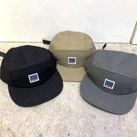kısa ağızlı toptan satış-Camp Şapka Men 5 Panel Güneş Şapka Kısa Düz Brim Bump Cap Açık şapkası Snapback Pamuk Hip Hop Ayarlanabilir Kadınlar Yaz saçakları Trucker