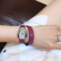Wholesale pearls oval shape resale online - Serpenti MM Women Wristwatch Shape Double Spiral Pink Leather Band Quartz Womens Watches Ladies Watch Mother Of Pearl Dial