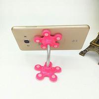 sihirli cep telefonu tutacağı toptan satış-Enayi Cep Telefonu için Standı 360 derece Dönebilen Çiçek Sihirli Vantuz Cep Telefonu Tutucu Araba Braketi Dağı Uyumlu