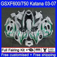 Wholesale gsxf fairings resale online - GSXF For SUZUKI KATANA GSXF GSXF600 HM GSX F GSXF750 Fairing Green flames stock