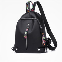 Wholesale large back packs resale online - Small Designer backpack For Women Girls Large capacity canvas backpacks with Black White Pink colors high quality Back pack Drop Shipping