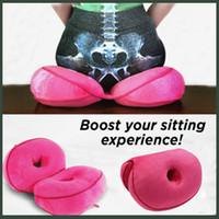 hals latex frau großhandel-2019 Oblong Sitzkissen Memory Foam Latex-Büro-Stuhl-Sofa-Kissen Bequemes Gesäss-Matten-Auflage-Spielraum-Kissen für Frauen Mädchen