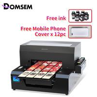 Wholesale hot sales printer for sale - Group buy DOMSEM A3 UV Printer LED Mobile Back Cover Printer Pen Socket Inkjet Flatbed Print Machine Hot Sale Factory Direct