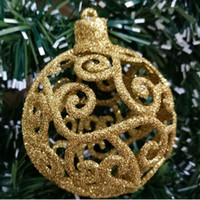 Wholesale marriage party decoration resale online - 2Pcs cm Christmas Decorations For Home Christmas Ball Gold Xmas Tree Hanging Ball Wedding Marriage Party Decorations