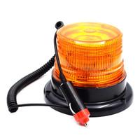 feux de police orange achat en gros de-Lampe de signalisation d'avertissement d'urgence universelle de voiture / camion / autobus / véhicule de police Ambre LED feu clignotant de sécurité / support magnétique