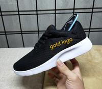 new product 8fe42 4e7b7 Barato Original Oreo Run Running Shoes para hombre mujer 2019 Summer Mesh  Knitting negro oro Runing Shoe Athletic zapatillas de deporte al aire libre