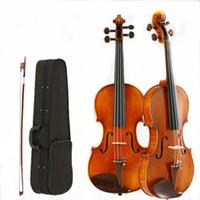 instrument ölmalerei großhandel-4/4 Violine Handgemachte Ölfarbe Erwachsenes Instrument Musical Ebenholz Ahorn Fichte Umweltschutz Farbe v009