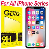 paquetes al por mayor-Para iPhone XS Max XR Cristal templado iPhone X 8 Protector de pantalla Para iPhone 7 7 Plus 6 6S Película 0.33mm 2.5D 9H Paquete de papel
