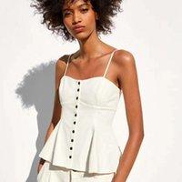 arkalıksız yaz gömlekleri toptan satış-Stokta var! Dropship kadın Parti Üst Gömlek Moda Kadınlar için Beyaz Backless Yaz Yelek Beyaz Yelek XS-L Z08
