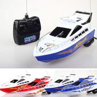 elektrikli su oyuncakları toptan satış-RC Gemi uzaktan kumanda Su oyuncak Sürat Elektrikli Oyuncak Modeli Çocuk Hediye RC Tekneler Kontrol oyuncaklar C6393