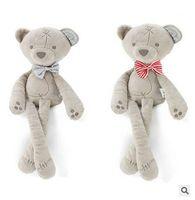 osos de peluche pies al por mayor-2019 hot ins gratis viento británico lindo oso lindo felpa entre padres e hijos juguete muñeca juguete de felpa regalo dormir los pies cómodos se pueden doblar