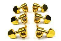gold-stimmzapfen groihandel-Grover Art-Gold-Halbrund-Gitarren-abstimmende Stöpsel-Tuners Machine Head 3L + 3R