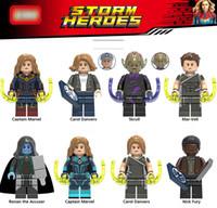 ingrosso toy lego-Captain Marvel Avengers Figure Super Heroes Carol Danvers Skrull Mar-Vell Modello Building Block bambini Giocattoli Mattoni Giocattoli per bambini 2019 Per lego