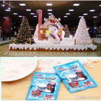 anlık kar toptan satış-Anında Yapay Sihirli Kar Tozu Anında Kar Sihirli Prop DIY Kabarık Emici Noel Düğün Süslemeleri Beyaz Sahte Kar Tozu