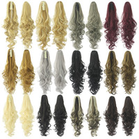 Wholesale black synthetic ponytail for sale - Synthetic Claw on Ponytail hair extension fake ponytail hairpiece for women black brown tail hair extension hair