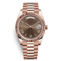 Wholesale new tags women resale online - 20 colors DAYDATE Rose Gold Watch Mens Women Luxury Watch Day Date President Automatic Designer Watches Mechanical Roma Dial Wristwatch