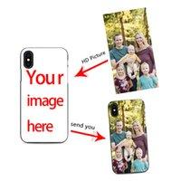 caso diy iphone tpu venda por atacado-Diy caso de telefone celular personalizado projetar seu próprio para iPhone X XR 6 7 8 plus 6s criar caso de telefone com fotos melhor capa preta