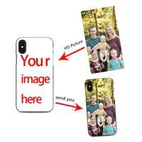 diy case iphone tpu toptan satış-Diy özel cep telefonu kılıfı tasarımı için kendi iPhone X XR 6 7 8 artı 6 s fotoğraflar ile telefon kılıfı oluşturmak en iyi siyah kapak