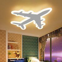 Wholesale acrylic beds resale online - DIY Acrylic Airplane LED Ceiling Light Modern Kids Bedroom Ceiling lamp decorative home indoor lighting