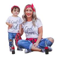 roupas para filho venda por atacado-Family Matching Outfits Pai Mãe Filha Filho Roupas Look tshirt papai mamãe e me vestido mãe mamãe bebê crianças roupas
