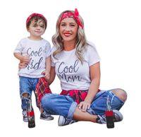 bebé madre traje a juego al por mayor-Trajes a juego de la familia, padre, madre, hija, hijo, ropa, look, camiseta, papá, mamá y yo, vestido mamá, mamá, bebé, niños, ropa