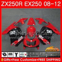 Wholesale kawasaki ninja for sale - Body For KAWASAKI NINJA EX ZX R ZX250 R EX Kit HC EX250 ZX250R Fairing stock red