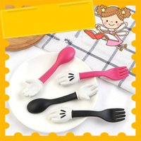 Wholesale kids knife fork sets for sale - Group buy Portable Dishes Teaspoon Spoon Fork Utensils Kids Spoon Tableware Portable Tableware Set Household Kitchen Tool CT0466