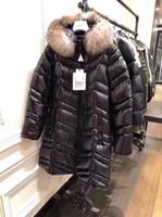 braune, heiße rosa jacke großhandel-Monclers Frauen beschichten unten Jacke Französisch Frauen Designer unten Winterjacke Top-Qualität Fuchspelz Luxus Pelzkragen lange Mode Mädchen Winter