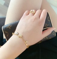 Wholesale new crystal bracelet designs for sale - Group buy New fashion D letters bracelet metal jewelry for ladies collection luxury design Heart shaped crystal gift jewelry