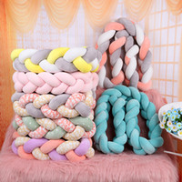 Wholesale dark red bedding resale online - Nordic Long Knotted Braid Pillow Cotton Knots Cushion Decorative Sofa Pillow Baby Bumper Crib Bed Protector Kids Room Decor