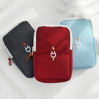 Wholesale travel accessories organizer resale online - Waterproof Data Cable Storage Bag Phone Bag U Disk Power Bank Earphone Storage Bags Travel Portable Digital Accessories Organizer DBC DH0786