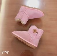 baby mädchen frauen stiefel großhandel-ugg boots KLASSISCHES DESIGN KURZES BABY-MÄDCHEN-FRAUEN-KINDER-BOW-TIE-SCHNEEBOOTS FUR
