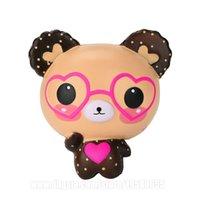 kawaii squishy panda großhandel-Panda Mit Brille Squishy Spectacled Bär Squishies Kawaii Langsam steigender Duft Telefon Anhänger Dhl-freies Verschiffen SQU093