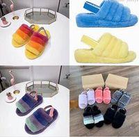 botas de tornozelo de diamante negro venda por atacado-Mulheres quentes Austrália Fluff Sim Slide Designer Sapatos Casuais Botas para Wgg Mulheres s Sapatos de Outono E Inverno Explosões Us5-10