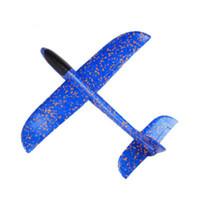 uçan kayıklar oyuncakları toptan satış-Uçak 48 Cm Köpük Uçak Atma Planör Oyuncak Uçak Atalet Köpük EPP El Uçan Modeli Planör Açık Eğlence Spor Uçaklar Oyuncak Çocuk