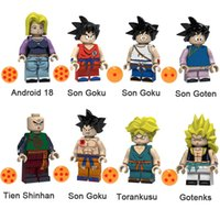 Wholesale gotenks action figure for sale - Group buy Dragon Ball Z Android Son Goku Son Goten Tien Shinhan Torankusu Gotenks Mini Action Figure Toy Building Block Bricks