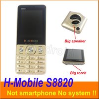 Wholesale band camera mp3 resale online - H Mobile S8820 inch Cheapest Mobile Phone Dual Sim Quad Band G GSM Phone Unlocked with big Flashlight torch speaker whats app