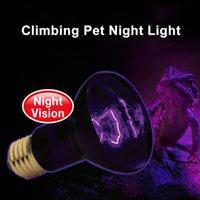 pet ısı lambaları toptan satış-Habitat Aydınlatma-Yok Pet Isıtma Ampul UVA Kızılötesi Seramik Isı Verici Sürüngen Pet Brooder Amfibiler Tavuklar için Işık Lambası Ampul lamba