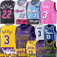 ingrosso calore jersey-Riscalda Jersey Dwyane Wade 3 Jersey LeBron James 23 Jersey Jimmy Butler 22 maglie 3 Anthony Davis Maglie
