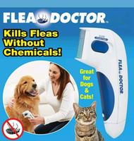 ingrosso strumenti medici-Cane Pet Pettini Pettine Pettine Doctor Cat Anti Flea Pettine Testa Peli Rimozione Animali Controllo Strumenti di Pulizia 60 pz OOA6752