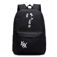 mochilas de niña únicas al por mayor-Rapero XxxTentacion Mochila Niños Niños Niñas Mochila escolar Moda Galaxy Unique Niños Mochila Viaje
