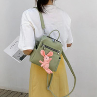 Wholesale small white korean backpacks for sale - Group buy JHD Korean Version Of The Mini Multi Purpose Pu Backpack Female Fashion Wild Student Small Backpack Tourism Tide