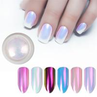 rosa schalen perlen großhandel-2019 neue Nagel Glitter Pearl Neon Pink Rub für Nägel Schmuck Glitter Pink Farbe Shell Mermaid Pearl Mirror