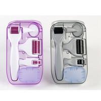 mikro iğne yüz silindiri toptan satış-6in1 Derma Roller Derma Roller Kalem Seti Titanyum Mikro İğne Seti Yüz Anti Aging Cilt Bakımı Yüz Güzellik Aracı RRA1344