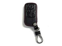 honda araba anahtar kapağı toptan satış-Elysion Mevcut için Pimall 4 Düğmeler Deri Uzaktan Kumanda Akıllı Araç Oto Araç Anahtarı Kapak Kılıflar Çanta