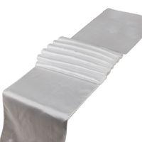lacivert düğün masaları toptan satış-Organizatör Yeni lacivert Saten Koşucular (1 adet) 12