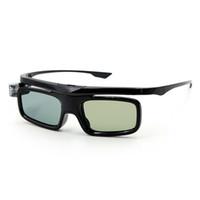 3d gözlük tasarımı toptan satış-Aktif Obtüratör 3D Gözlük Ev Kullanımı Evrensel USB Şarj Edilebilir Hafif DLP Bağlantı Projektör Için Kolay Aşınma Ergonomik Tasarım