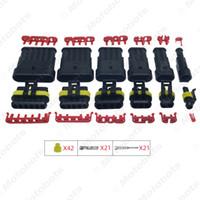 conector pin de la motocicleta al por mayor-1 Unidades Auto Impermeable 1/2/3/4/5/6 Pin Way Conector de cable eléctrico Enchufe Coche Moto Marina HID AWG Enchufe # 3924