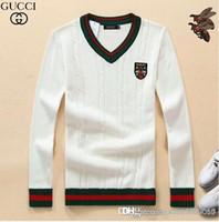 ingrosso uomini coreani v maglione-Maglione per uomo versione coreana filetto caldo per uomo autunno e inverno 2018 nuovo maglione scollo a V con fondo